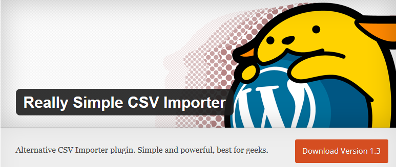 WordPress › Really Simple CSV Importer « WordPress Plugins